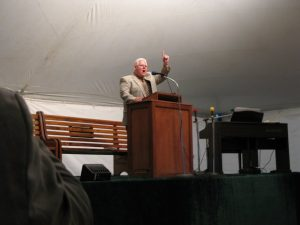 Preaching at Tent Meeting In VA